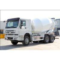 China 12cbm Tanker Cement Mixer Lorry High Collision Resistance With Hydraulic System on sale