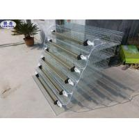 Quality 6 Tiers Quail Bird Cage PVC Feeder Trough Plastic Water Bowl OEM Service for sale