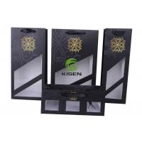 Spot UV Coated Paper Bags With Window , Portable Printed Paper Carrier Bags Manufactures