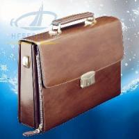 Italian Men′s Leather Briefcase with Fingerprint Lock (HF-FC01) Manufactures