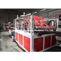 China Grid PP Hollow Sheet Extrusion Line , PP Plastic Template Board Making Machine on sale