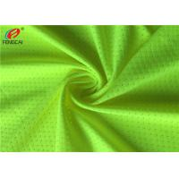China Green Colour Fluorescent Material Polyester Knit Tricot Elastic Mesh Fabric on sale