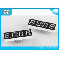 Four Digit 0.33 Inch 7 Segment Led Digital Display Red Low Voltage For Clock Manufactures