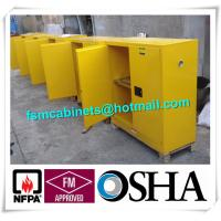 Flammable Chemical Storage Cabinets / Fireproof Storage Cabinets For Chemical Manufactures