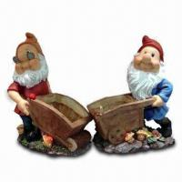 Hand-painted Garden Dwarf/Gnome Decoration, Accpets OEM Designs, Made of Polyresin Material Manufactures