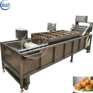 China High Pressure Brush Potato Washing Machine , Fruit And Vegetable Cleaner Machine on sale