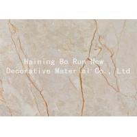 Quality Real Marble Effect Thermal Transfer Film , Furniture Panel Pvc Membrane Film for sale