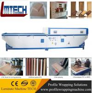 high gloss brown cabinets vacuum membrane press machine Manufactures