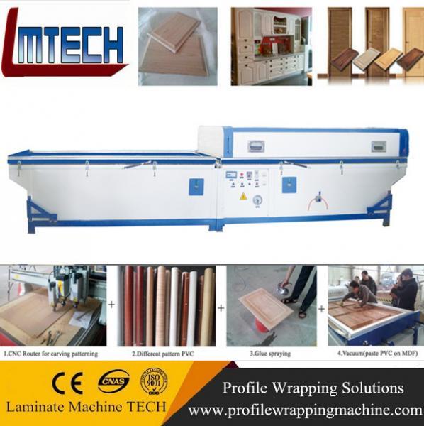 Quality PVC garage doors vacuum membrane press machine for sale