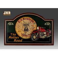 Home Decor Antique Wooden Wall Plaques Resin Motorcycle Wall Decor Pub Signs Manufactures