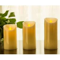 "Quality Flickering Candle Real Wax Flameless LED Candles with Dancing Flame 3"" 4"" 5"" for sale"