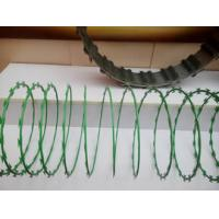 Anti Aging Stainless Steel Razor Wire , Razor Barbed Tape Wire 600MM Diameter Manufactures