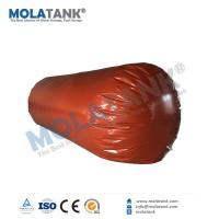 China Molatank inflatable Red Mud PVC Cylinder Shape Gas storage bladder container tank for natural gas, biogas, salt dome on sale