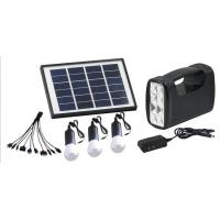 Buy cheap solar home lighting system with 3 LED bulbs for remote area, mobile charger , from wholesalers
