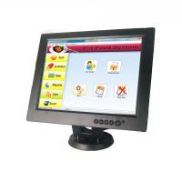 12 Inch Cup Dolly POS Touch Screen Monitor Touch LCD Display Black Color Manufactures