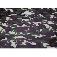 Camouflage Pattern PU Synthetic Leather , Premium PU Leather For Bags Manufactures