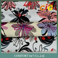 Handle soft Print woven PU Leather For shoes / garment EN SGS ROHS Manufactures