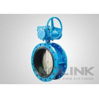 Double Flanged Rubber Lined Butterfly Valve Concentric Ductile Iron GGG50 Manufactures