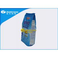 Food Grade Stand Up Powder Packaging Bags For Whey Protein / Milk Powder Quad Seal Manufactures