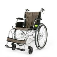 YMTC-45 Dark Brown Folding Self-propelled ManualTransport Chair Wheelchair in Ultralight Aluminum Alloy with Folding Bac Manufactures