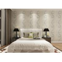 Embossed Asian Inspired Wallpaper , Leaf Pattern Washable Vinyl Wall Coverings Manufactures