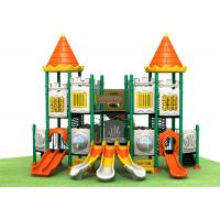 Quality Castle style with small bending slide safety galvanized steel pipe outdoor playground for outdoor activities TQ-CB1119 for sale