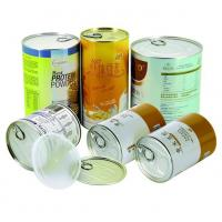 Air proof EZ open Paper Composite Rice Cans recycled round , gift tube packaging Manufactures