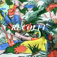 China Digital Print Plastic Recycled Fabric , High End Athletic Wear Fabric on sale