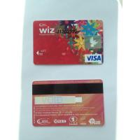 ISO standard prepaid VISA smart debit card with hico black magstripe Manufactures