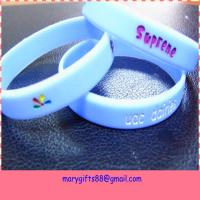 China factory silicone wristbands with debossed logo Manufactures