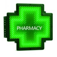 China Outdoor Double Sided LED Pharmacy Cross Full Green Waterproof For Pharmacies on sale
