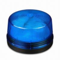 Strobe Flasher with 6 to 12V DC Operating Voltage, Measures 43 x 50mm, Comes in Blue  Manufactures