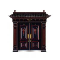 Villa Chinese style imitated wood security door metal gate W1500*H560-850mm Manufactures