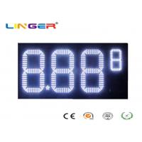 Outdoor White Color Roadside Gas Station Led Price Sign With CE / RoHS Approved Manufactures