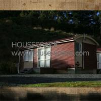 Cozy Galvanized Timber Modern Modular House , Small Cottage with Curtain Wall for Vacation Manufactures