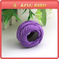 China Multi Color 70% Cotton30%Polyster Blend Yarn / Cotton Ball Thread For Knitting on sale