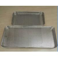 Food Grade Plastic Drying Trays / Perforated punched metal mesh Stainless Steel Tray Manufactures