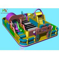 China Music Theme Piano Inflatable Amusement Park Giant Commercial Jumping Castle on sale