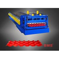 960 Type Steel Plate Glazed Tile Forming Machine , Metal Roofing Roll Former Manufactures