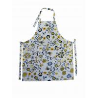 Halter Strap Printed Canvas Cotton Kitchen Apron With Silk Printing