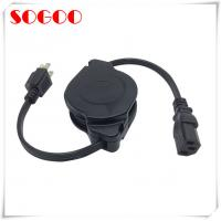Custom Length Retractable Power Cord / Power Cable Assembly For Hair Straightener Manufactures
