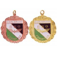 Brass / Copper / Pewter Custom Awards Medals with Soft Enamel, Gold / Copper Plated Manufactures
