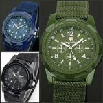 wholesale new fashionMilitary Men Gemius Swiss Army New Sport Round Dial Quartz Nylon Band Wrist Watch Manufactures