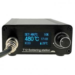 """STM32 V3.1S T12 Iron Tips Adjustable Soldering Station 1.3"""" Display Manufactures"""