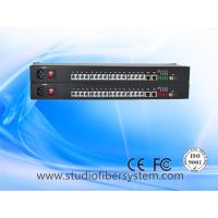 China 16CH Telephone To Fiber Optic Converter with 2ch 100M ethernet in 1U rack mount chassis on sale