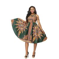Women Fashion African Print Clothing , 100% Cotton Wax African Style Dresses Shoulder Manufactures