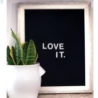 China Amozon hot selling products decorative changeable felt letter board with oak frame and 300 letters on sale