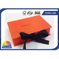 Book Shape Hinged Lid Rigid Paper Box Ribbon Closure for Luxury Gift Packaging Manufactures