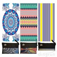 China Quick Drying Lightweight Fast Dry Oversized Printed Microfiber Beach Towel on sale