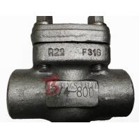 China Stainless Steel Swing Check Valve 0.75 Inch Forged 800LB OEM Available on sale